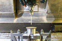 Przemysłowy metalu chucka kostka do gry, foremka sensoring/ Metalworking i mech Obraz Stock