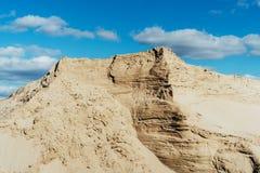 Przemys?owy piaska ?up Piasek jama Przemys? Budowlany obraz stock