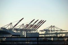 Przemysłowy Portowy Los Angeles Obraz Royalty Free