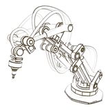 Przemysłowy robot ilustracja wektor
