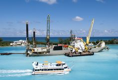 Przemysłowy statek W Bahamas Fotografia Royalty Free
