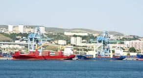 Przemysłowy teren w porcie Marseille Zdjęcie Stock