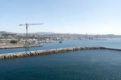 Przemysłowy teren w porcie Marseille Obraz Stock