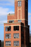 przemysłowy zaniechany budynek Obrazy Royalty Free