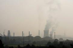 Przemysłowy zanieczyszczenie powietrze Obrazy Royalty Free