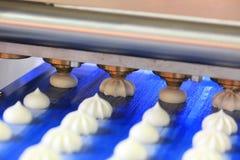 Przemysł spożywczy. Produkcja ciasteczko produkty. Obraz Stock