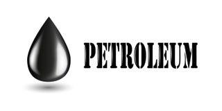 Przemysłu naftowego horyzontalny sztandar z produktami przerobu ropy naftowej Odosobniony wektorowy logo wizytówka szablon ilustracja wektor