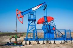 Przemysłu paliwowego pumpjack Obraz Royalty Free