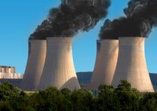 przemysłu zanieczyszczenie obraz stock