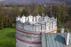 Przemysl, Pologne, - 14 avril 2019 Polonais de château de Krasiczyn : Zamek W Krasiczynie est une structure de la Renaissance dan image stock