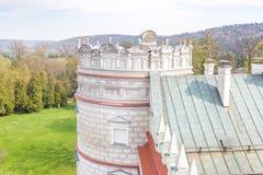 Przemysl, Pologne, - 14 avril 2019 Polonais de château de Krasiczyn : Zamek W Krasiczynie est une structure de la Renaissance dan photo stock