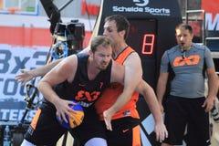 Przemyslaw Rduch - basquetebol 3x3 Foto de Stock Royalty Free
