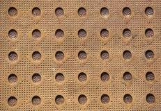Przemysłowy okładkowego talerza tło i tekstura Obraz Stock