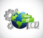 przemysłowy przekładnia kontakt my poczta znak Zdjęcie Stock