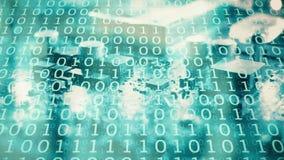 Przeniesienie duzi dane, programuje nowa technologia chipa komputerowego ilustracja wektor