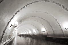 Przeniesienie tunel na Tverskaya staci metru Zdjęcia Royalty Free