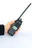 przenośnego urządzenia radio w ręce Obraz Stock