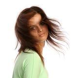 przepływ hairdress brunetki dziewczyny young obraz stock