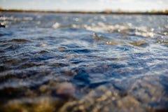 Przepływ wody zakończenie up fotografia royalty free