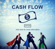 Przepływu Gotówki Biznesowego pieniądze Pieniężny pojęcie Obrazy Stock