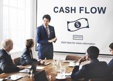 Przepływu Gotówki Biznesowego pieniądze Pieniężny pojęcie Zdjęcie Stock