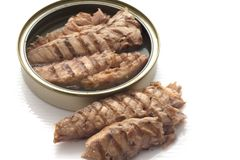 Przepasuje makrela w piec na grillu oleju Fotografia Royalty Free