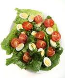 przepiórki jajeczna sałatka obrazy stock