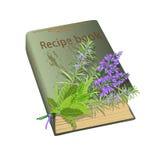 Przepisów kwiaty i książka Fotografia Stock