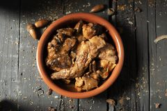 Przepis królik, typowo jedzący w Hiszpania obrazy stock