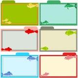 Przepis rybie karty ilustracji