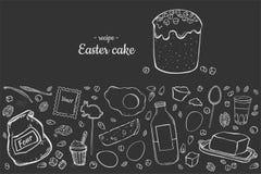 Przepis wielkanocy tort ilustracja wektor