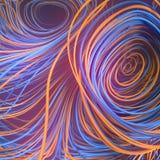 Przeplatać abstrakcjonistycznej pomarańcze i błękitnych barwionych krzyw świadczenia 3 d ilustracja wektor