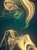 Przeplatać abstrakt barwić krzywy świadczenia 3 d Obraz Stock