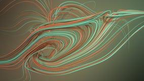 Przeplatać abstrakt zieleni krzywy świadczenia 3 d Obraz Royalty Free