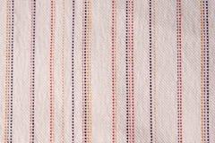 Przeplatać tkaninę z zakończeniem Fotografia Stock