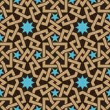 Przeplatający Arabski Bezszwowy wzór ilustracji