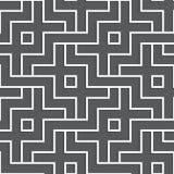 Przeplatający biały geometryczny wzór Łączyć bezszwowego tło Obrazy Stock