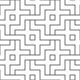 Przeplatający biały geometryczny wzór Łączyć bezszwowego wektorowego tło Fotografia Royalty Free