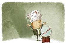 Przepowiadać przyszłość finanse ilustracja wektor