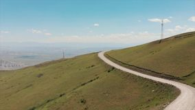 Przepustka kraj otwiera za Ferghana dolinie Zjazdowe lub równe drogi kyrgyzstan góry zbiory wideo