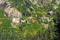 przepustki linii kolejowej biel Yukon Obraz Royalty Free