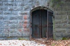 Przerażająca Żelazna brama Zdjęcia Royalty Free
