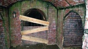 Przerażający Ceglany tunel obraz royalty free