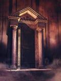 Przerażający cmentarz przy nocą royalty ilustracja