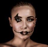 Przerażający czarownica portret Zdjęcia Stock