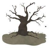 Przerażający drzewo ilustracja wektor