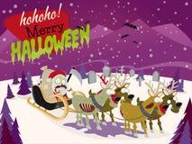 Przerażający Halloween boże narodzenia Santa Obraz Royalty Free
