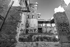 Przerażający stary budynek Obraz Stock