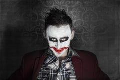 Przerażający jokeru śmiać się Zdjęcie Royalty Free