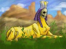 przerażający sfinks Obraz Royalty Free